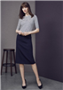 Biz Corporates Ladies Relaxed Fit Lined Comfort Wool Stretch Skirt