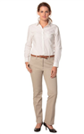 Benchmark Ladies Flat Front Chino Pant